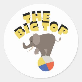 Big Top Elephant Classic Round Sticker