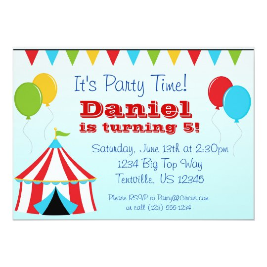 Big Top n Balloons Carnival Circus Birthday Party