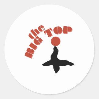 Big Top Seal Round Sticker