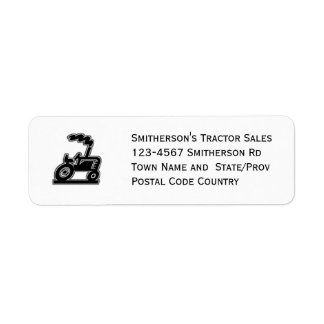 Big Tractor Chugga-Lugga-Lug Return Address Label