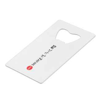 Big Trip To Japan Credit Card Bottle Opener