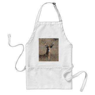 Big Trophy Buck Deer in Tall Grass Camo Aprons