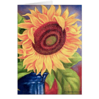 Big Tropical Sunflower Art - Multi Greeting Card