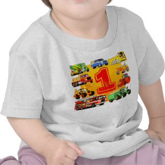 Big Trucks 1st Birthday T Shirts