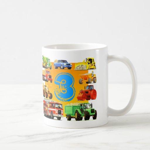 Big Trucks 3rd Birthday Mug