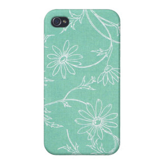 Big Turquoise Floral iPhone 4 case