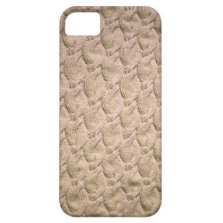 Big twisted knitted cables (cream) iPhone 5 case