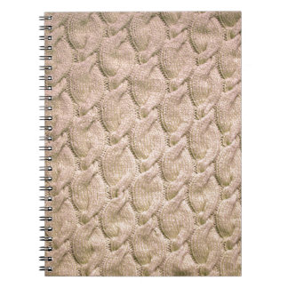 Big twisted knitted cables (cream) notebook