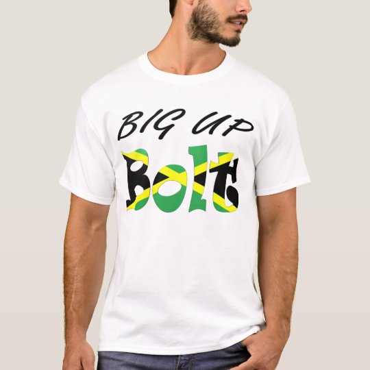 Big Up Bolt Jamaican Flag T-shirt