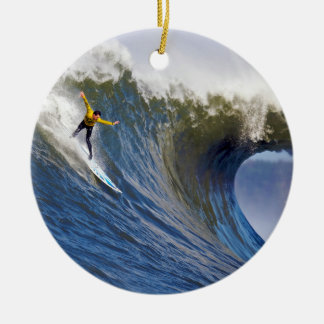 Big Wave at the Mavericks Surfing Competition Christmas Ornament