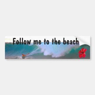 Big Wave Beach Day Bumper Sticker
