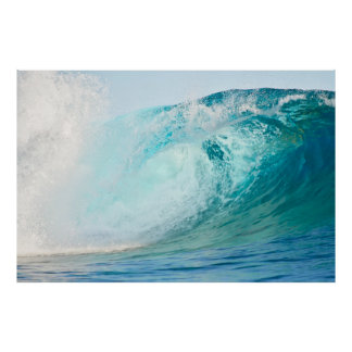Big wave surfing break poster