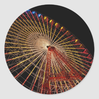 Big Wheel Funfair Night.jpg Classic Round Sticker