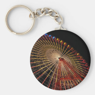 Big Wheel Funfair Night.jpg Key Ring