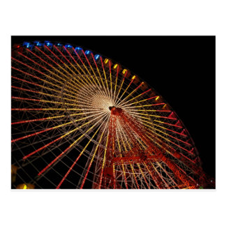 Big Wheel Funfair Night.jpg Postcard