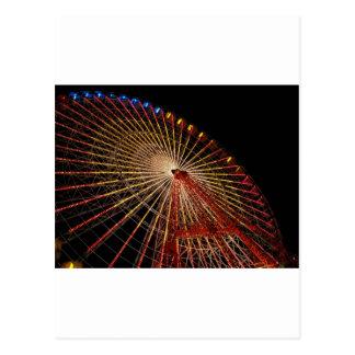 Big Wheel Funfair Night jpg Post Card