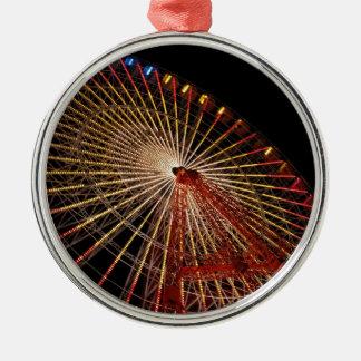 Big Wheel Funfair Night.jpg Silver-Colored Round Decoration