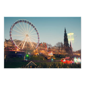 Big Wheel in Edinburgh Photo Print