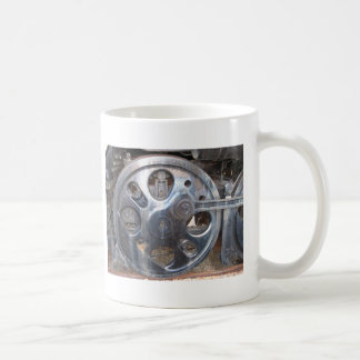 Big Wheels Keep on Turnin' Train Railroad Basic White Mug