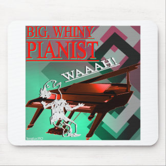 Big Whiny Pianist Red and Green Mouse Pads