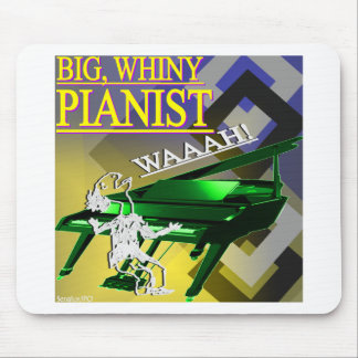 Big Whiny Pianist Yellow and Green Mousepads