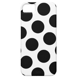 Big White and Black Polka Dots Barely There iPhone 5 Case