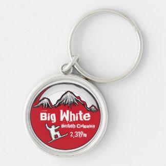 Big White British Columbia red board keychain
