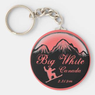 Big White Canada pink snowboard art keychain