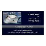Big White Cruise Ship Business Card