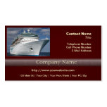 Big White Cruise Ship Business Card Templates