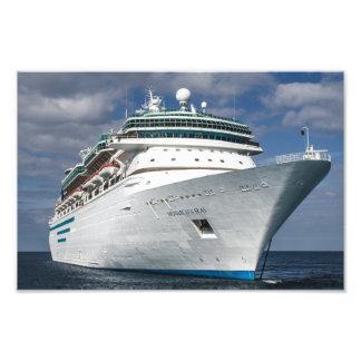 Big White Cruise Ship Photo Art