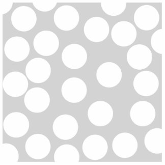 Big white dots on gray background photo sculpture