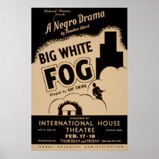 Big White Fog Vintage WPA Poster