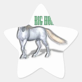 Big White Horse Stickers