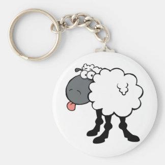 Big White Sheep Key Chain