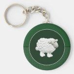 Big White Sheep Key Chains