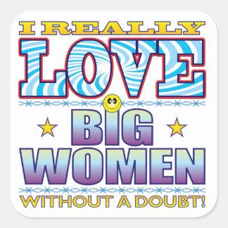 Big Women Love Face Square Sticker