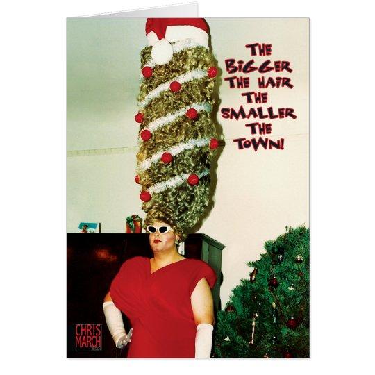 Big Xmas Hair Humour Holiday Card