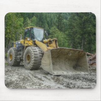 Big Yellow Bulldozer Tractor Heavy Equipment Mouse Mat