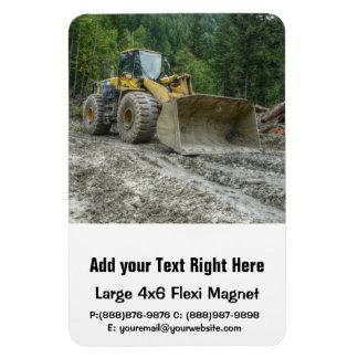 Big Yellow Bulldozer Tractor Heavy Equipment Rectangular Photo Magnet