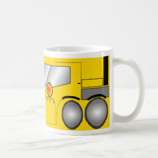 Big yellow digger coffee mug