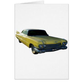 Big Yellow Fin 59 Cadillac Greeting Card