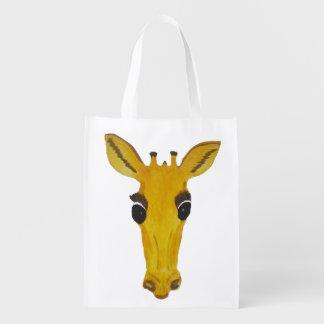 Big Yellow Giraffe Face bags
