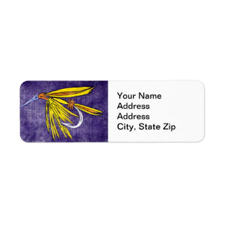 """Big Yellow May"" Trout Fly Return Address Label"