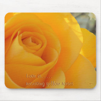 Big Yellow Rose Mousepad- cutomize or personalize