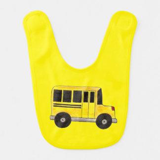 Big Yellow School Bus Buses Education Baby Bib