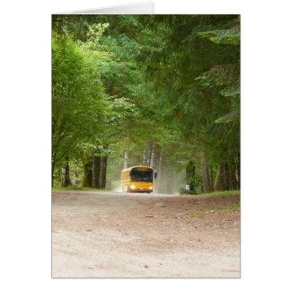 Big Yellow School Bus Card