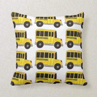 Big Yellow School Bus Driver Teacher Gift Pillow