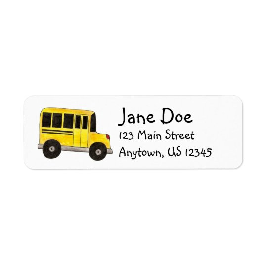 Big Yellow School Bus Driver Teacher Labels