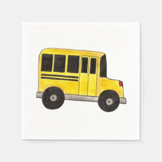Big Yellow School Bus Driver Teacher Napkins Disposable